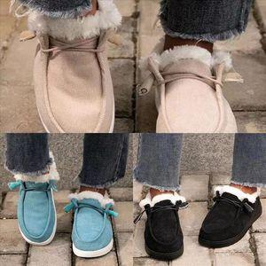 MdLCJ fur warm Women plush Insole Snow Boots Warm Casual australia Cotton boot cotton Shoes Woman Ankle Boots Shallow