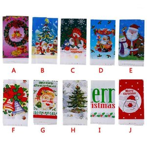1pcs 110*180cm Christmas Table Cloth Dinner Party New Year Printed Rectangle PVC Tablecloth Christmas Table Cover Decorations1