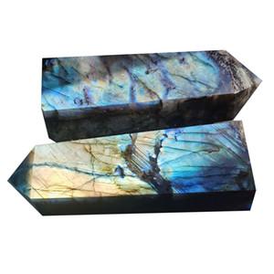 Vente en gros Grand Point de labradorite naturel Naturel Coloré Quartz Obélisk Miraculous Labradorite Crystal Points