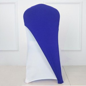 100pcs Lycra Spandex Chair Hoods Wedding Stretch Half Chair Cover Caps Elastic Bow Sashes For Hotel Event Party Decoration