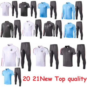 Top Thai-Qualität 20 21 Echt Madrid Trainingsanzug Fußballjacke Full Reißverschluss Trainingsanzug 20 21 Poloshirt + Hosen MAILTT JERSEY Trainings Trainingsanzug