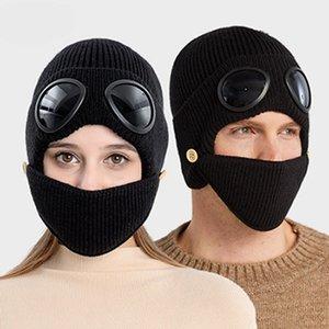 Gafas de sol piloto Guerras de esquí Hilados de lana Hilo A prueba de frío Invierno Mantenga de punto cálido Sombrero de punto deportes al aire libre Punto de punto gorras de fiesta IIA935