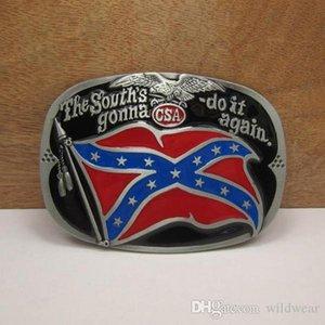 Bucklehome Rebel Gürtelschnalle Flag Gürtelschnalle Confederate Schnalle mit Zinn Überzug fP -02.797 Kostenloser Versand