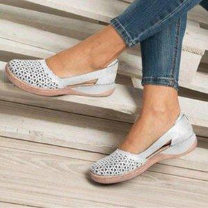 Летние женщины клинья ортопедические сандалии офисные туфли женщина вылапывает винтажные ботинки скольжения на случайные швейные женские сандалии Bunion