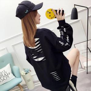 1723 Korean Fashion Student Loose Large Size Hip Hop Sweatshirt Harajuku Streetwear Tracksuit Women White Black Yellow Pink Drop Shipping