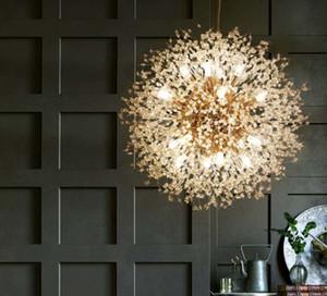 الحديث الكريستال الهندباء أدى الثريا الإضاءة قلادة مصباح غرفة المعيشة غرفة الطعام الديكور المنزل قلادة شنقا ضوء