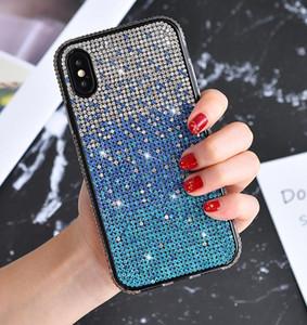 For Iphone 11 pro xr x xs max 8 7 6 plus Rhinestone phone Case fashion premium luxury bling Glitter shockproof case girl