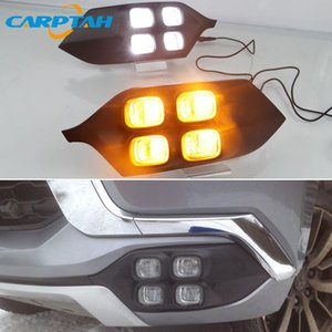 LED Daytime Running Light For Mitsubishi Montero Sport 2020 2020 12V Yellow Turn Signal Indicator Light Bumper LED DRL