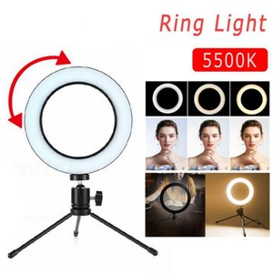 Video Selfie Ring Light 8 LED Stand Camera Live Phone Dimmable Lamp Youtube Makeup Tripods For Metal inch Ring Studio With New Owsxg