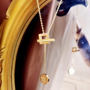 Kolye Kadın Niş Tasarım yuvarlak Fade Goodluck için Dongdaemun Stil 20K Altın Değil Kolay