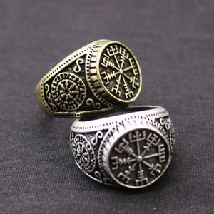 Bester Verkauf antiker Silber Nordic Vintage Vijing Aoding Ring Rune Herren Ring Sonderangebot