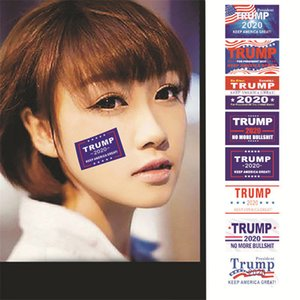 Trump Face Sticker Trump President General Election Keep America Great Again Face Clothes Body Adhesive Stickers EWF1222