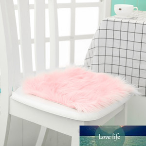 12Hot Sale Faux Sheepskin Chair Cover 3 Colors Warm Hairy Wool Carpet Seat Pad Long Skin Fur Plain Fluffy Area Rugs Washable