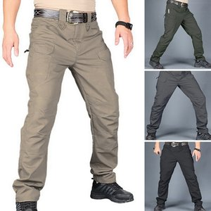 Men's Tactical Pants Casual Autumn Lightweight Water-Resistant Hiking Trousers Outdoor Ridge Cargo Sweatpants Long Homme Pants Y0107