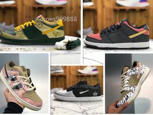 Travis Scotts SB Dunks Low Black Parachute Beige Petra Brown Sneaker 2020 dunks sneakers Hot Sale New Scotts Dunks Shoes