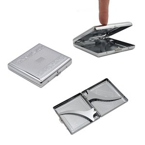 COURNOT Metal Big Size Siver Cigarette Case (91x88MM) Holding 20 Regular Size Cigarettes (85mm*8mm) Tobacco Case Box With 2 Clips