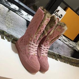 Louis Vuitton LV boots Winter hot Verkauf Stiefel klassisches Design warmer Schnee, Oberbekleidung Martin Damenschuhe, warme Schuhe, freies Verschiffen