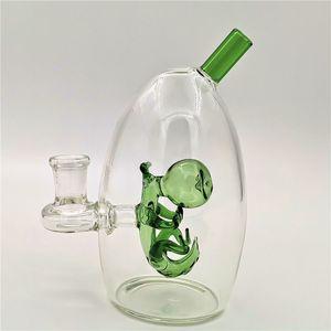 الزجاج الذكور 14.4 ملليمتر تلاعب يوشي مع bongs الأخضر فقاعة دينو المياه المشتركة زجاج البيض الأنابيب ujrnk