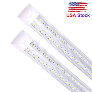 LEDs Tube Light Double Side V Shape Integrated Bulb Lamp, Works without T8 Ballast, Plug and Play, Clear Lens Cover, Cold White 6000K