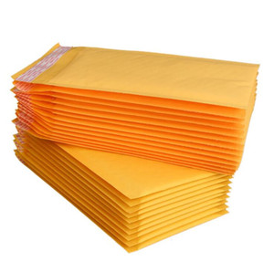 Yellow kraft Paper Bubble Bag Clothing Packaging Bubble Film Thickening Express Foam Bag Bubble Envelope Packagin GWC5326
