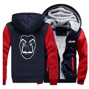 La Casa De Papel House Of Paper Money Heist Thick Hoodies funny Men Sweatshirt Streetwear Warm Mens Brand Zipper Jacket Winter X1022