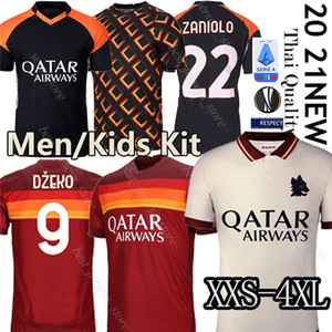 Thai as Mailhot Roma Soccer Jersey دي Rossi Dzeko Zaniolo روما Totti Perotti Jerseys 19 20 21 Football Kit Shirt 2020 Men + Kids 4xl