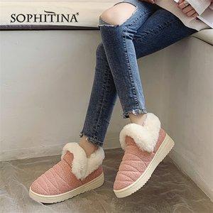 Sophitina Solid Bequemer Slipper Winter Runde Zehe Mode Design Neue Schuhe Sehr warmen Slipper MO371 Y200706
