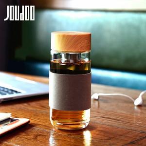 Joudoo 400ml té infusor vidrio vidrio botella de acero inoxidable filtro portátil a prueba de fugas bebidas bebidas bebidas con cubierta 47 y200330