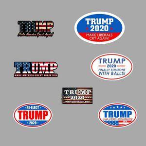 8 ألوان ترامب ملصقات عاكسة صانع السيارة أمريكا مرة أخرى العظمى 2020 ترامب ملصقات الرئيس الأمريكي دونالد ترامب السيارات راية BH2017 TQQ