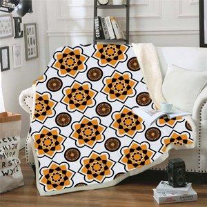 Warm Blanke Adult Children's Geometric 3D Digital Printing Cotton Velvet Thickening Blanket 130*150 cm 150*200 cm 200928