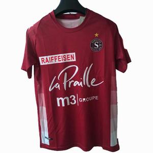 2020 2021 Servette Soccer Tebacry Sebastien Barros Stevanovic Barbosa Alphons Custom 20 21 Servette FC Home Красная футболка Униформа