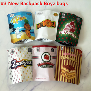 New Arrival 3.5g Mylar Bags Tomyz Merzcato BACKPACK BOYZ 33 GAS FACE Oreoz Mintz 100mm*128mm 420 Dry Herb Flower Packaging