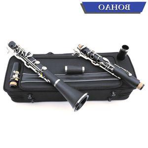 BOHAO German G Tune 18 Key Clarinet ABS Resin Boy Material Nickel Plated keys