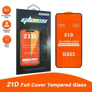 21D غطاء كامل واقية منحنية حافة الجبهة الخلفي الزجاج المقسى لفون 12 برو ماكس حامي الشاشة فيلم مع صندوق البيع بالتجزئة