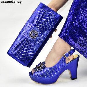 Italienische Schuhe und Taschen Matching Set Schuhe Frauen 2019 Frau High Heel Tasche und Set Italy1