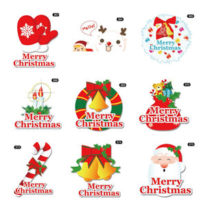 Nuevo lindo de la historieta de los ciervos de Navidad de campana pegatinas personaje de dibujos animados se puede aplicar a pegatinas refrigerador de vidrio cambiar pegatinas AHB2398
