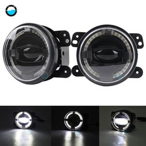 For Wrangler Dodge 30w Chip led 4 inch White Round fog lights lens Projector DRL Off Road Fog Lamps.