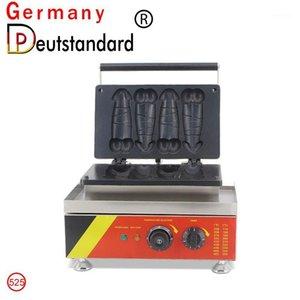 2021 Vente chaude Shape Penis Shape Machine Machine 4pcs Pénis électrique Gaufre Machine à bulles Bâton BBQ Snack Machine 1