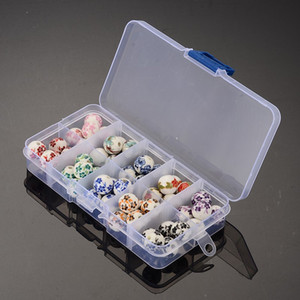 Ceramic Beads Boxed DIY Porcelain Beads Beaded Jewelry Materials Spacer Round Loose Beads Making DIY Accessories