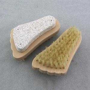 فرشاة الشعر الطبيعي فرشاة القدم تقشير الجلد الميت مزيل الخفاف حجر القدم فرشاة تنظيف خشبي فرشاة دش سبا مدلك EWF4334