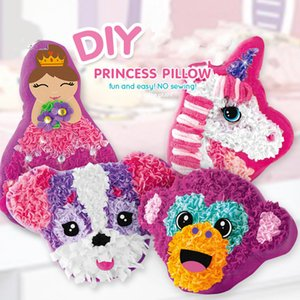 DIY Material Package Kids Arts&Crafts Making Children Pillow Handmade Unicorn Plush Parent-Child Interactive Toys Q1106