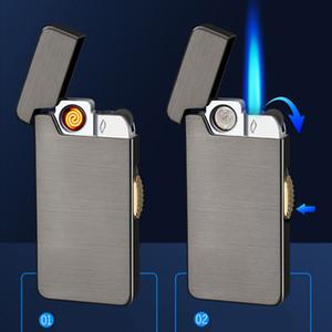 Neuheit USB Ladung Elektrische Feuerzeug Aufladbare aufblasbare Dual-Zwecke Tragbare Winddichte Feuerzeuge Rauchen Zubehör Nein Gas BC BH4562