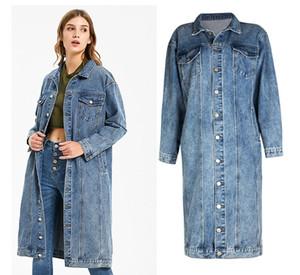 2021 Famous Womens Denim Jacket Women Women High Quality Casual Coats Blue Fashion female Jacket Stylist long Outwear Size S-3XL