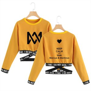Marcus and Martinus Harajuku Sweatshirt Gothic Letter Sexy Crop Top Long Sleeve Cropped Teens for Girls Cross Hip Hop Hoodie