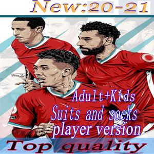20 21 joueur Version LVP Soccer Jerseys Gerrard Edition spéciale Smicer Alonso Hamann Barnes Kuyt Cisse Nouveau 2021 Chemise de football Hommes + Enfants