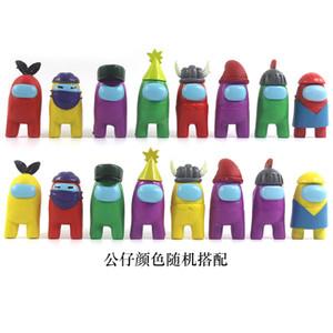 8pcs parmi les jouets américains anime Figure Mini carton Modèles Action jouet Figurines jeu DIY Décoration Capsule Poupées Boîte aveugle Y0112