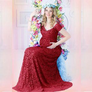 Новые сексуальные платья для беременных Детские душевые кружева модные беременности платье фото стрельба длинные беременные женщины Maxi платье для фотографии