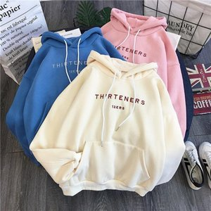 Letter Hoodies Women Sweatshirts Long Sleeve Harajuku Shirt Oversized Hoodies Sweatshirts Loose Winter Clothes Bluzy Damskie
