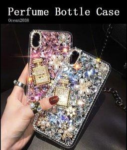 TOP bottiglia di profumo della cassa del telefono di iPhone 11 Pro Max Bling del diamante di protezione Shell per Samsung Galaxy S10 S20