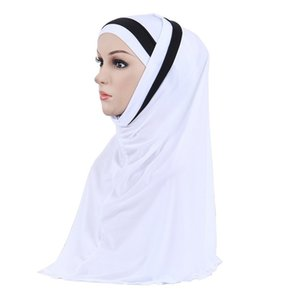 11 Colors Women's Hijabs Muslim Fashion Hijab Scarf Cap Full Cover Inner Cotton Islamic Head Wear Hat Underscarf Wholesale
